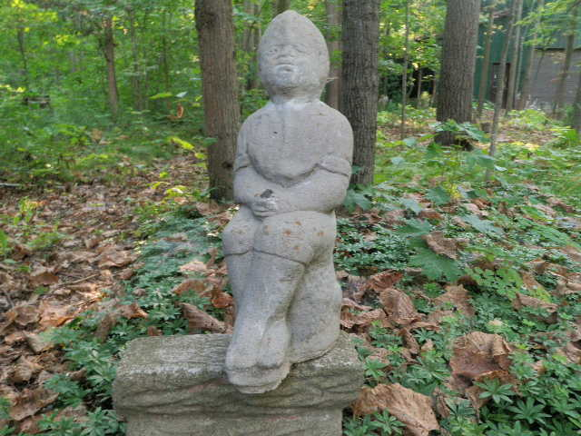 Vintage cement 18 tall boy fishing sitting garden statue weathered concrete a ebay - Cement cloth garden ornaments ...