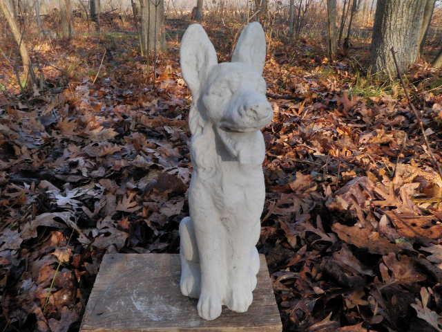 Cement 12 Tall German Shepherd Dog Garden Art Statue Concrete Shepard Ebay